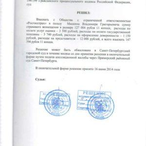 Решение суда по Каско. Взыскано c «Росгосстрах» 147 тыс. рублей